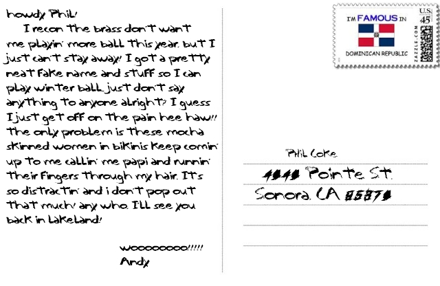 postcard back andy